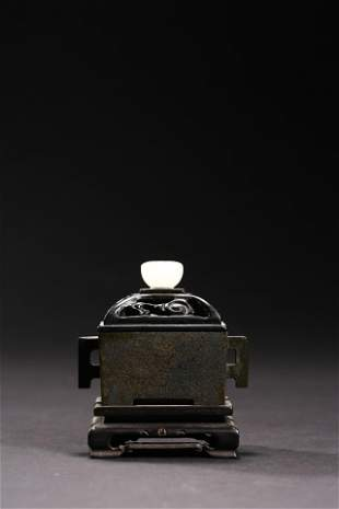 Ming Dynasty: Bronze Double Ear Incense burner.