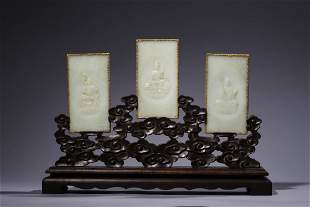 Qing Dynasty: Jade Carving sutra on the Three Buddha