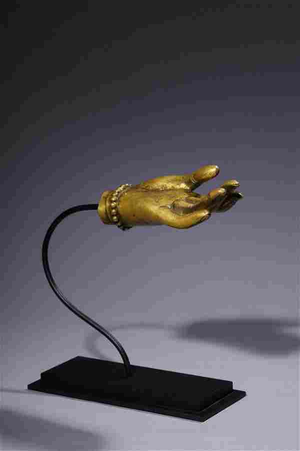 Qianlong Period of the Qing Dynasty: Gilt Bronze Falun