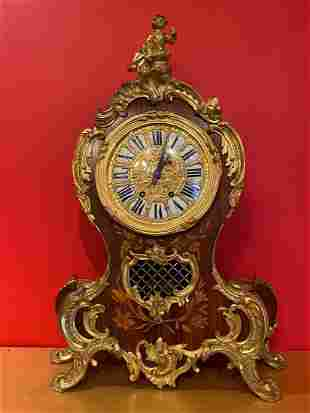 A Gilt Bronze Western Styled Table Clock, 18/19th C