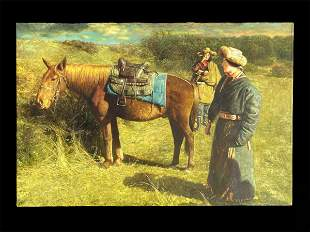 Contemporary painting of Eastern Tibet Nomads'