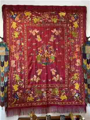 A large Embroidery textile, perfect condition, China,