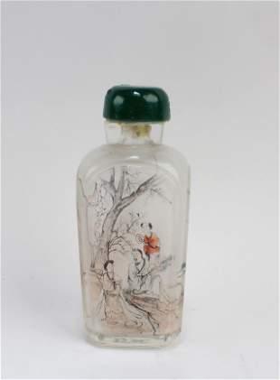 Antique Peking Glass Snuff Bottle