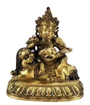 Chnese Gilt Bronze Buddha Statue