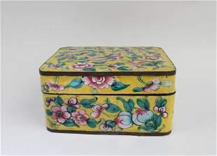 Antique Rectangular-shaped Enamel Box