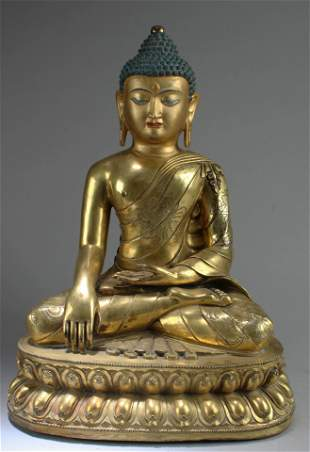 Ming Dynasty Gilt Bronze Buddha Statue