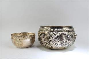 A Group of Two Silver Paste Containers
