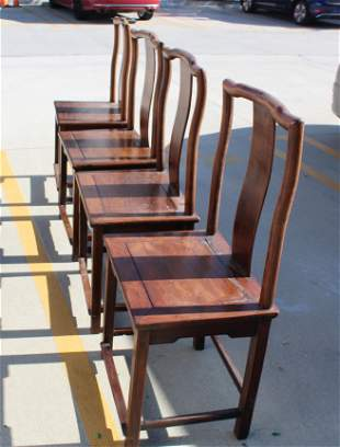 Four Chinese Hardwood Chairs