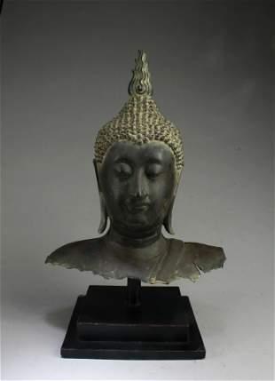 A Bronze Buddha Head