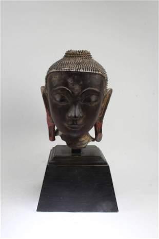 A Clay Buddha Head