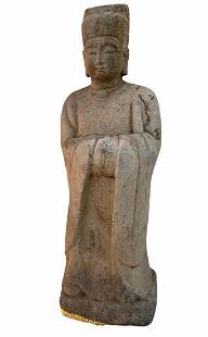 A Carved Stone Statue