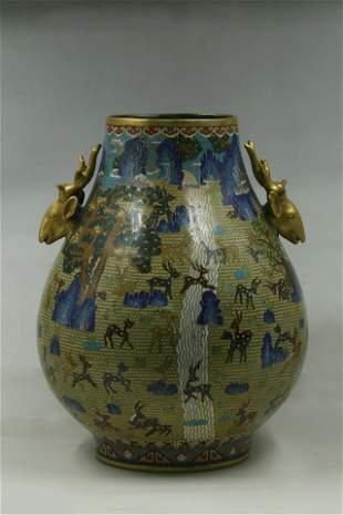 A Cloisonne 'Zun' Vase