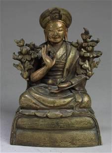 Chinese Bronze Bodhisattva Statue, 18th C