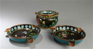 A Group of Three Cloisonne Ornament