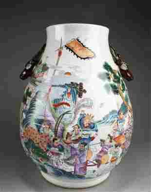 An Old Fencai Porcelain Vase
