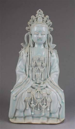 Chinese Porcelain Guanyin Statue