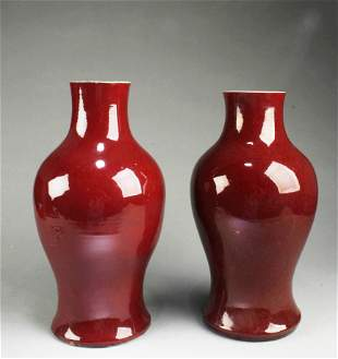 A Group of Two Antique Chinese Porcelain Vases