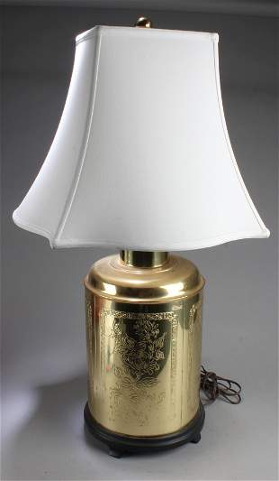 A Table Lamp with White Color Shade