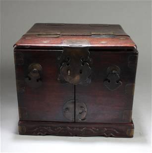 Chinese Hardwood Multi-Tier Jewelry Box