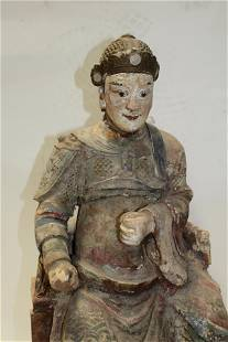 Antique Chinese Clay Sculpture, early Ming Dynasty