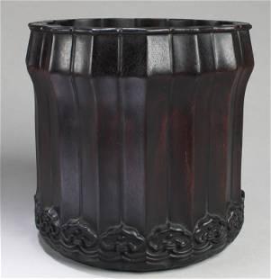 A Hardwood Brushpot