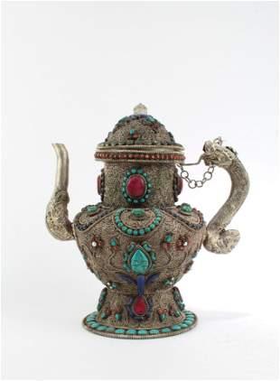A Silver Ritual Teapot