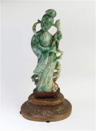 Chinese Carved Jade Guanyin Statue