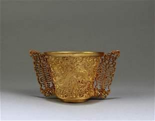 A Gilt Bronze Cup