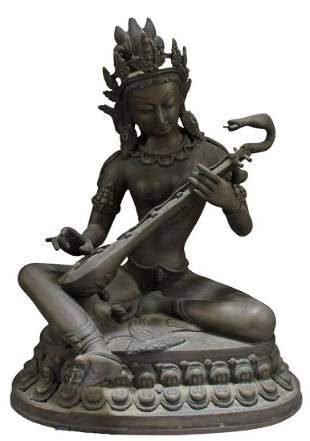 Indian Bronze Seated Figure
