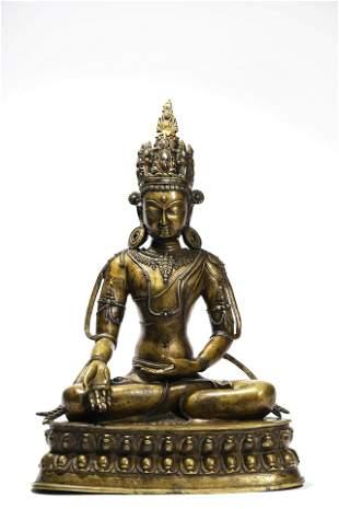A Copper Alloy Statue Of Buddha