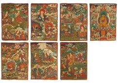 A Set of 7 Thangka