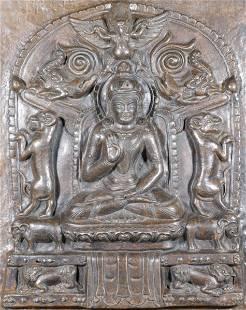 A Bronze Buddha Board