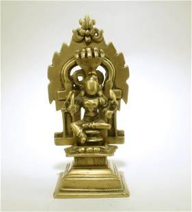 Antique Bronze Buddha Shrine