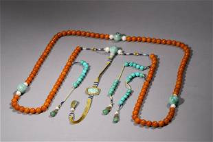 Amber Court Necklace