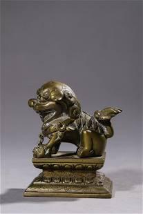A Bronze Foo Lion Figurine