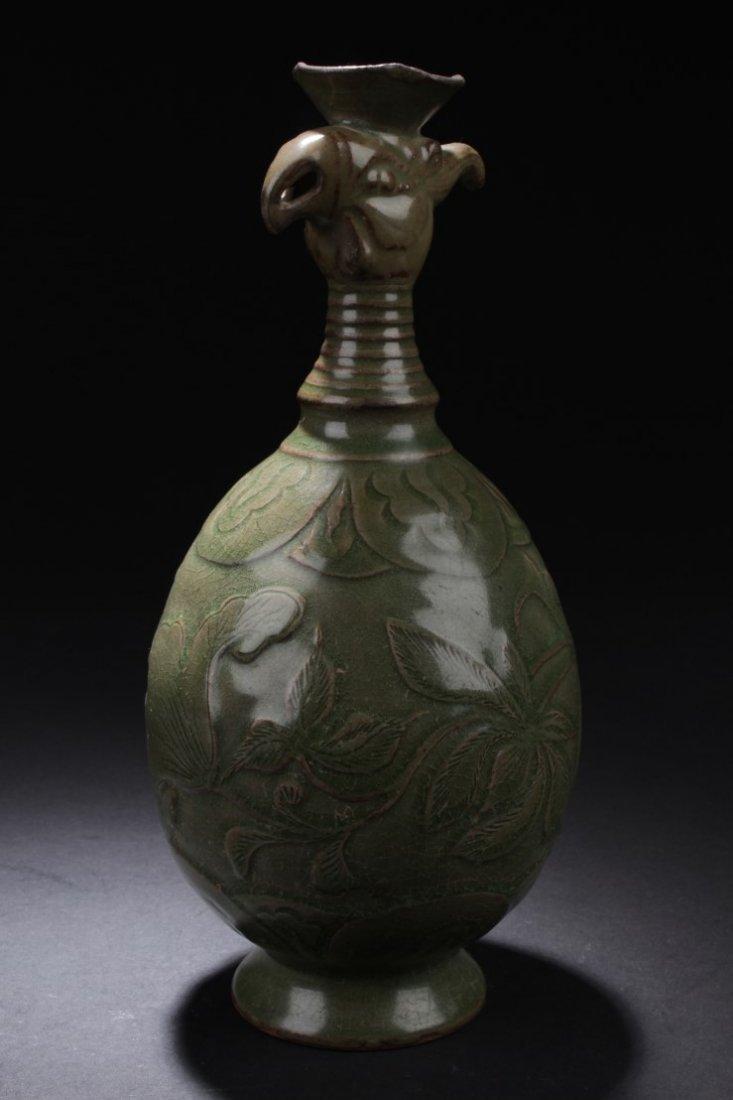 Celadon Crackled Jar