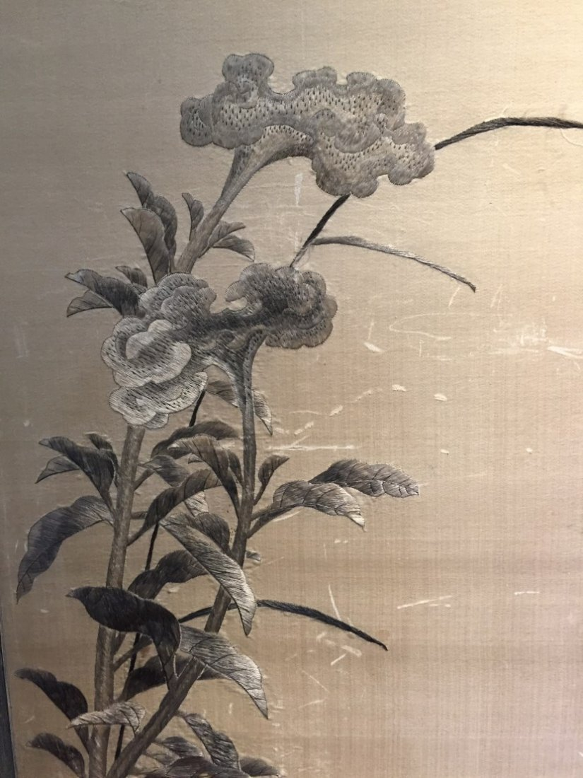 A Pair of Chinese Embroidery Painting - 5