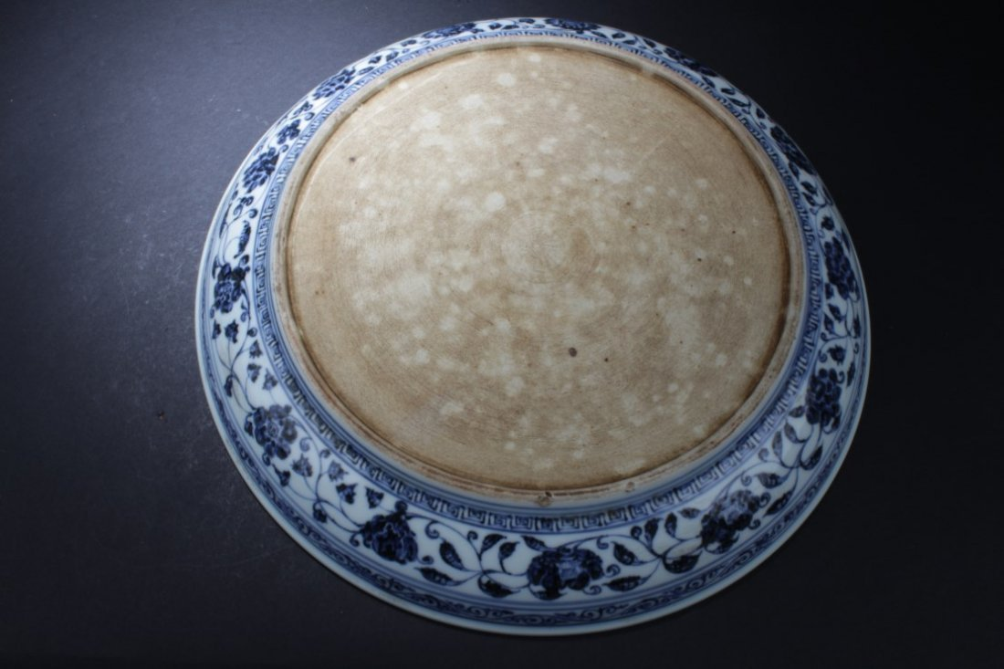 A Large Chinese Blue & White Porcelain Plate - 3