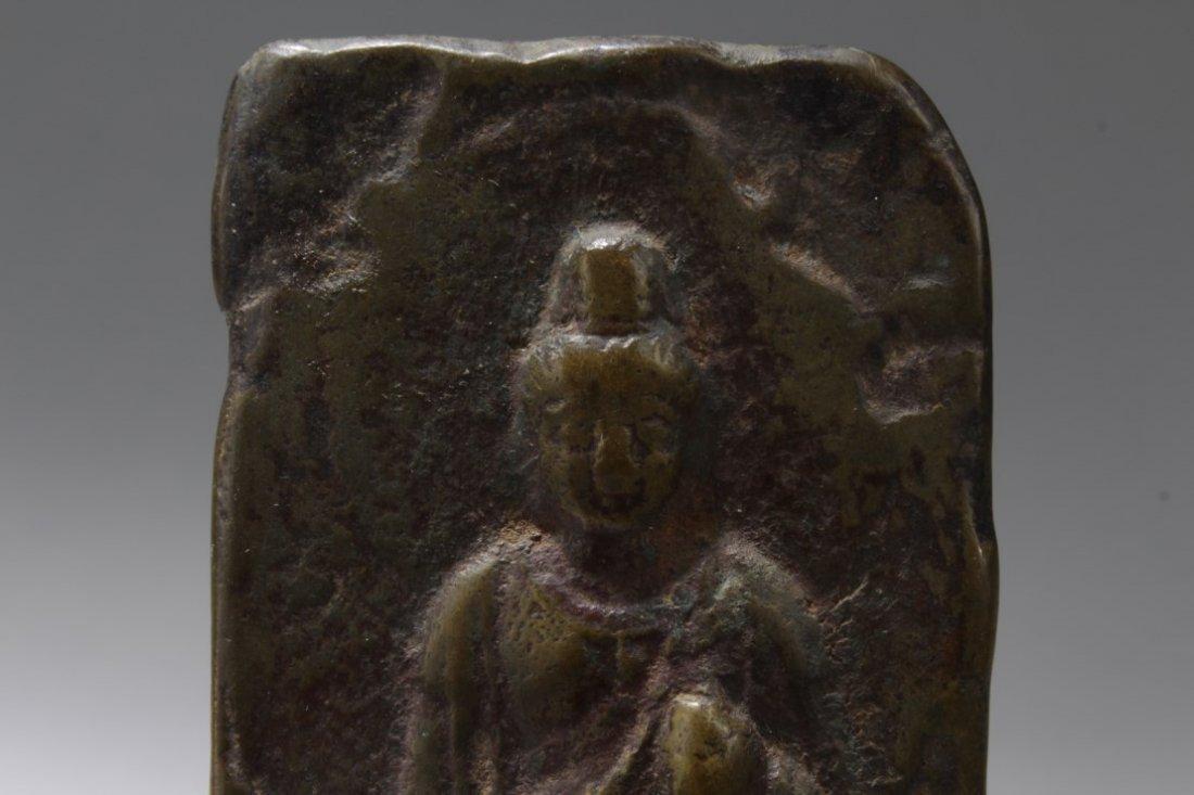 Chinese Bronze Guanyin Statue - 2
