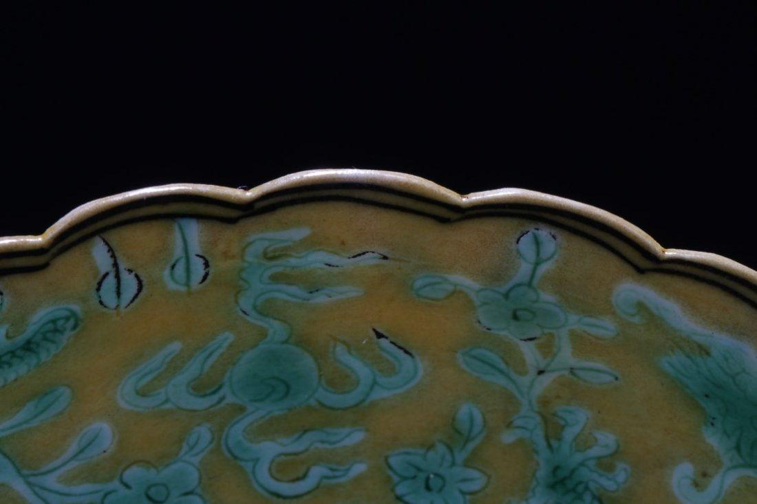 Chinese Famille Verte Porcelain Dish - 4