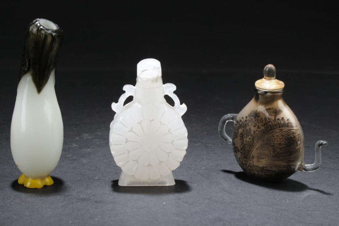 A Group of Three Chinese Snuff Bottles