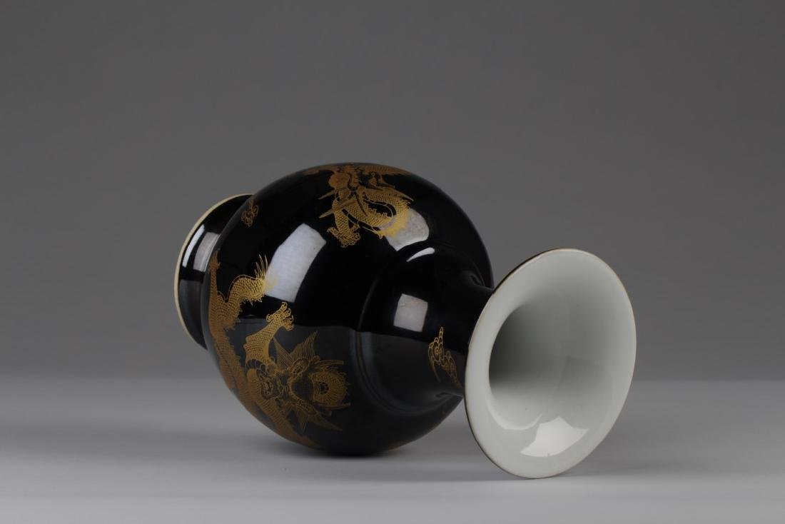Chinese Black Porcelain Vase - 3