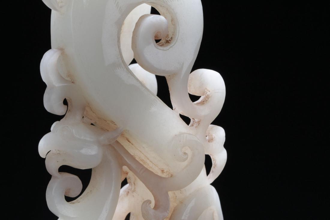 A Tall Chinese Jade Myth-framing Curving Seal - 5