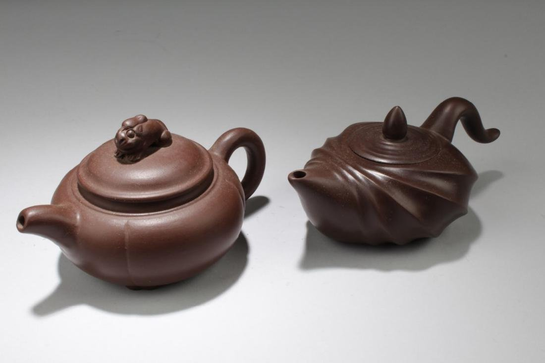 Two Chinese Zisha Teapot