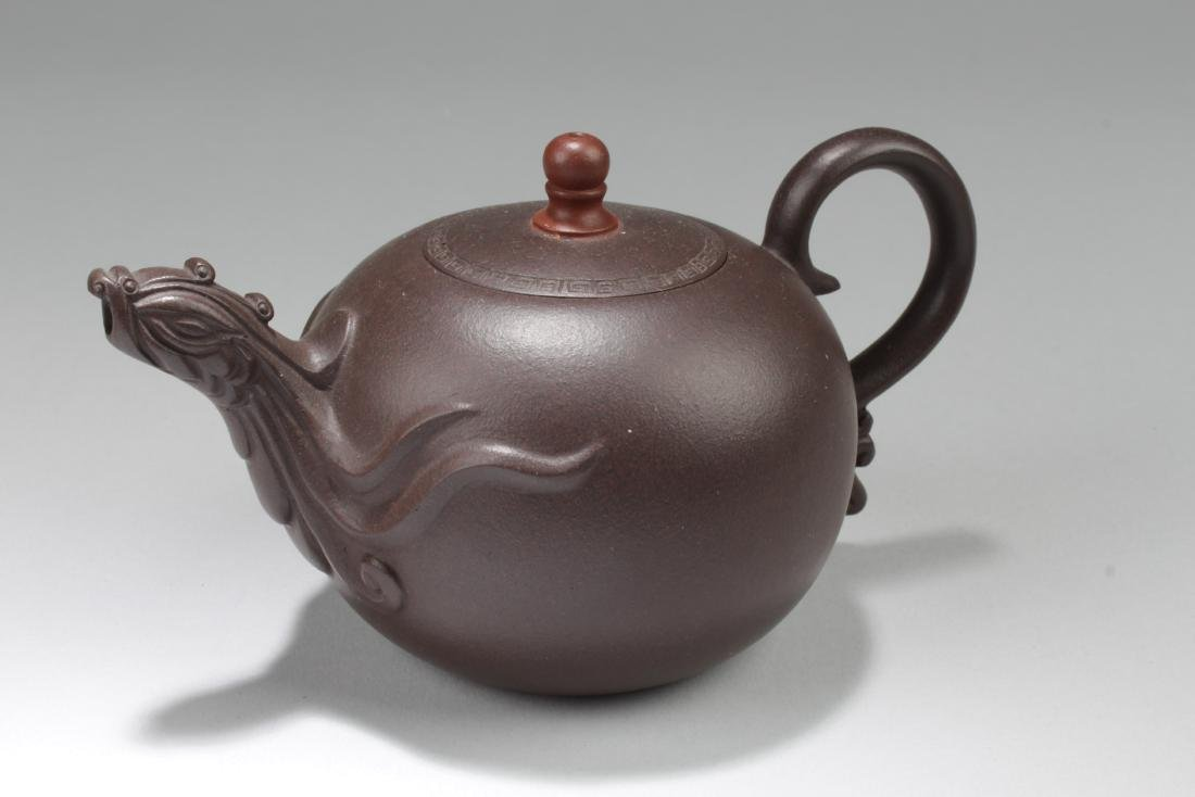 A Chinese Myth-animal Brown Tea Pot