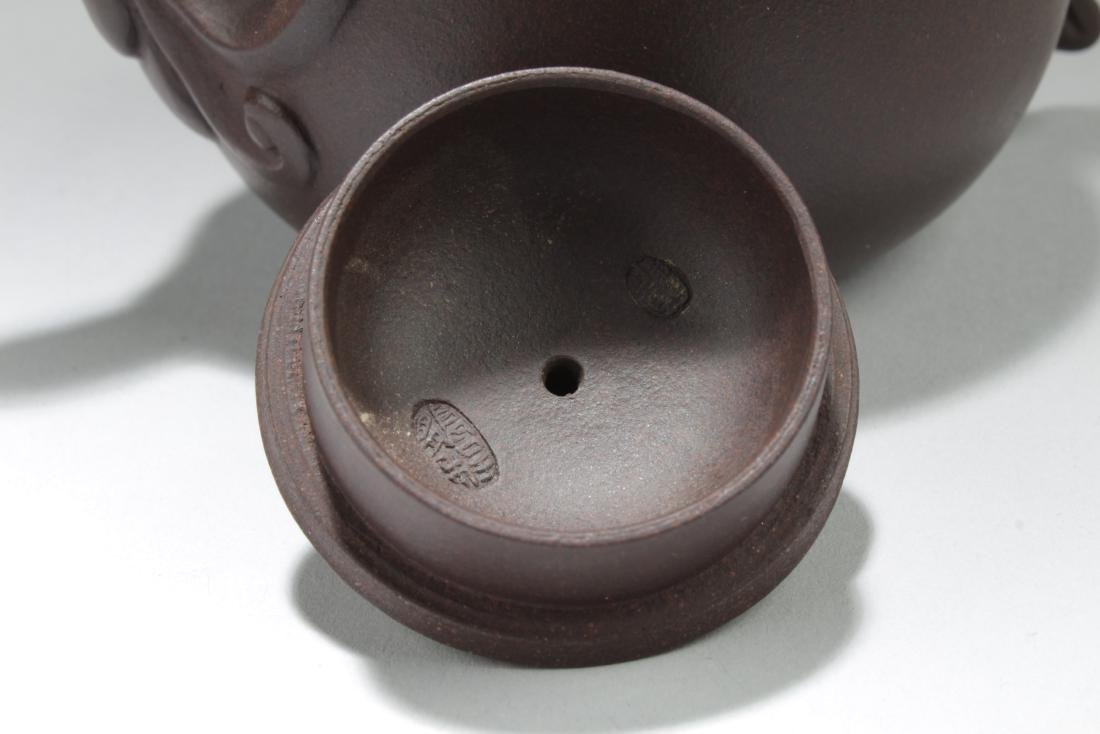 A Chinese Myth-animal Brown Tea Pot - 2