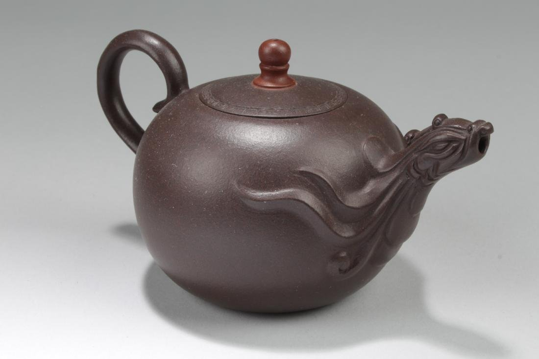 A Chinese Myth-animal Brown Tea Pot - 5
