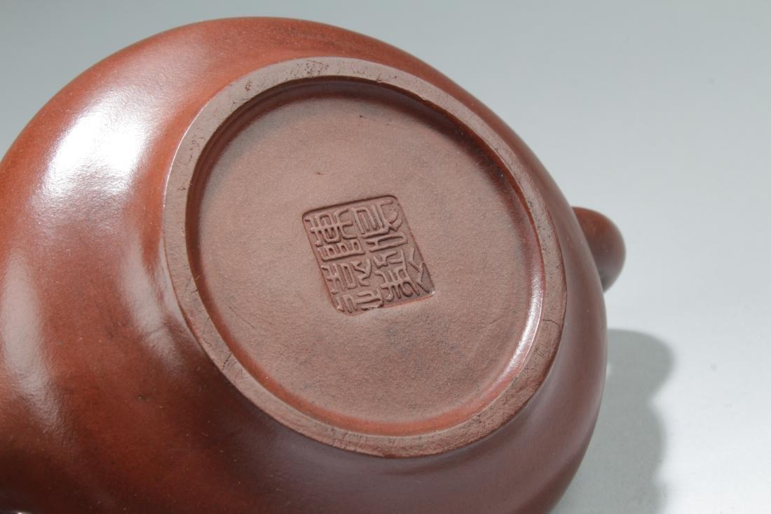 A Chinese Bull-decorating Tea Pot - 5