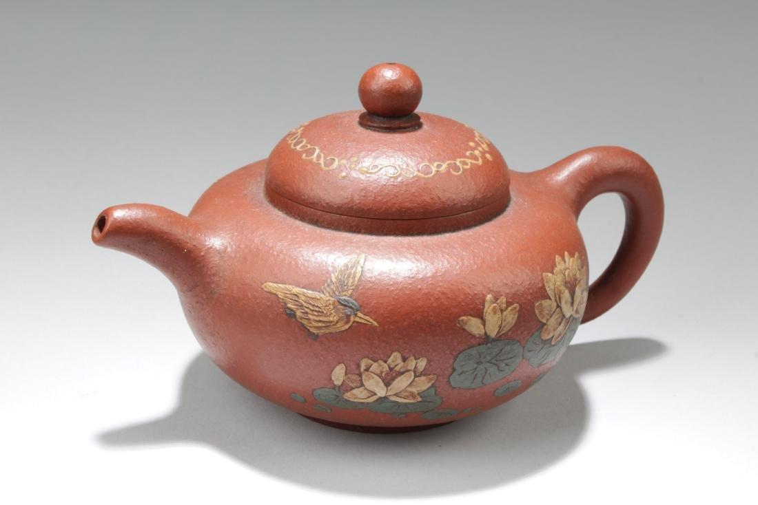 An Estate Nature Decorating Tea Pot
