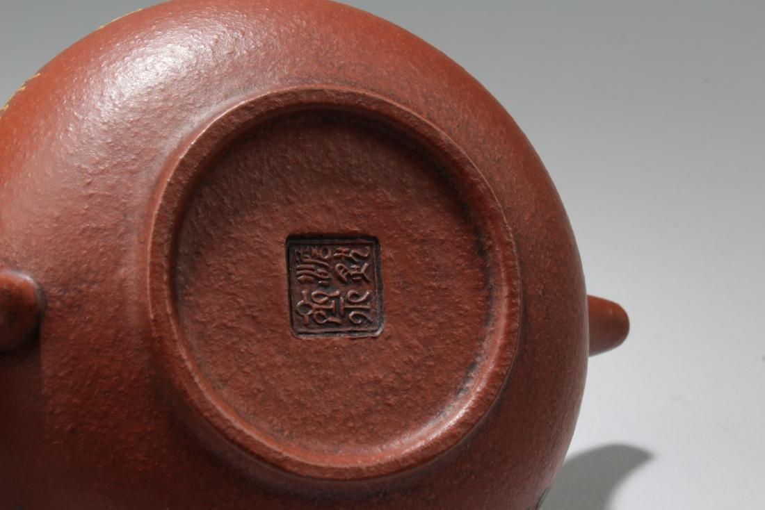 An Estate Nature Decorating Tea Pot - 5